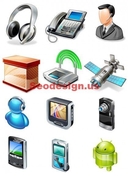 Networking Mobile Icons Set