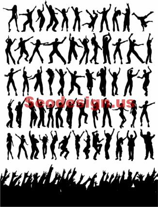 Dancing Silhouettes Vector Free Download