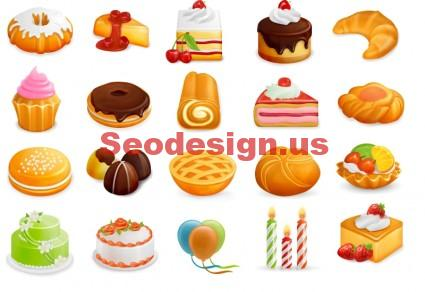 Sweets Icons Set Download