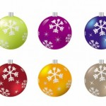 5 Christmas Ball Vector Graphics
