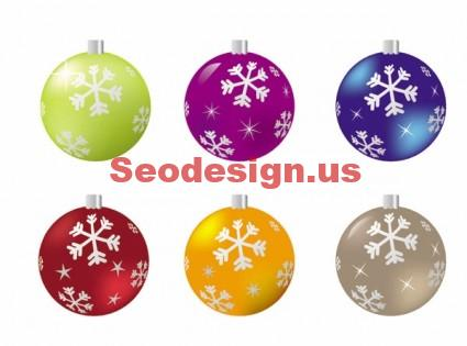 Christmas Ball Vector Graphics
