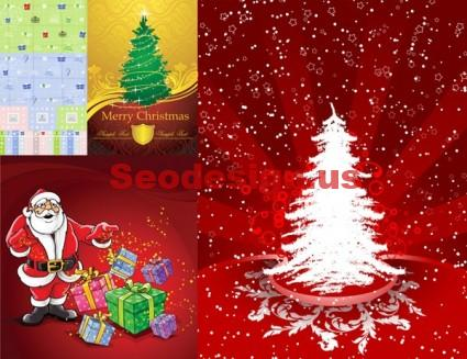 Free Christmas Vector Art Backgrounds