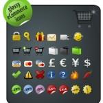 32 Glossy eCommerce Icons Set