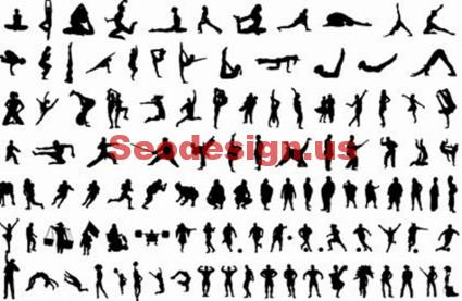 Sport Silhouettes Graphics Download