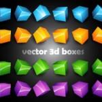 30 Vector 3D Box Cubes