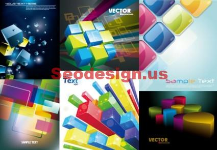 Vector 3D Box Cubes Free Download