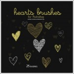 25 Cute Hearts Photoshop Brushes