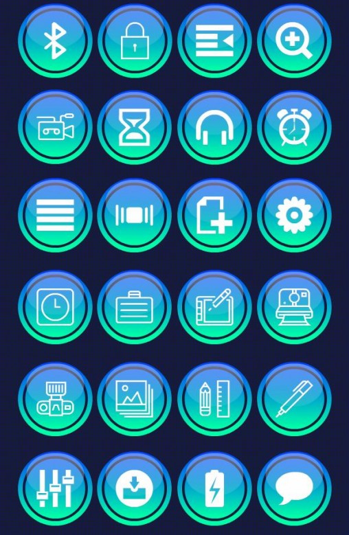 Retina UI Icons Set For Web Designers