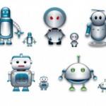 10 Robots Icons Set Free Download