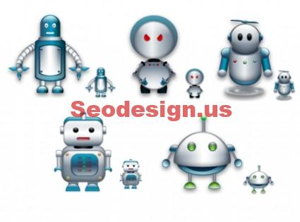 Robots Icons Set Free Download