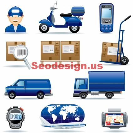Logistic Transport Vector Graphics