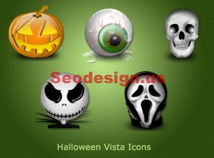 Glossy Halloween Icons Free Download