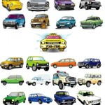 21 Cute Vehicles Cars Vector Graphics