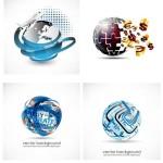 5 3D Globe Logo Vector Download