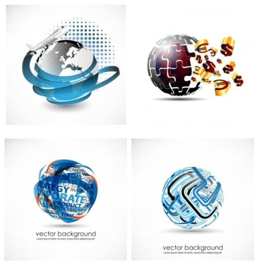 3D Globe Logo Vector Free Download