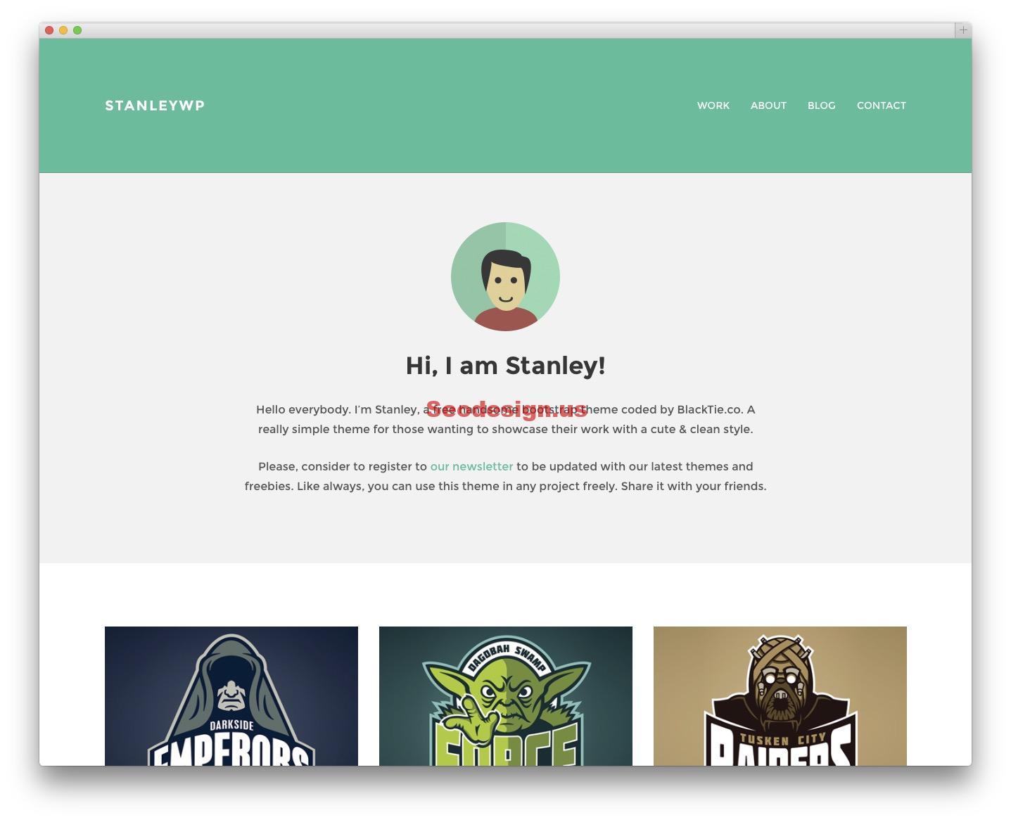 StanleyWP - Free blog theme
