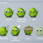 17 Glossy Green Birds Icons