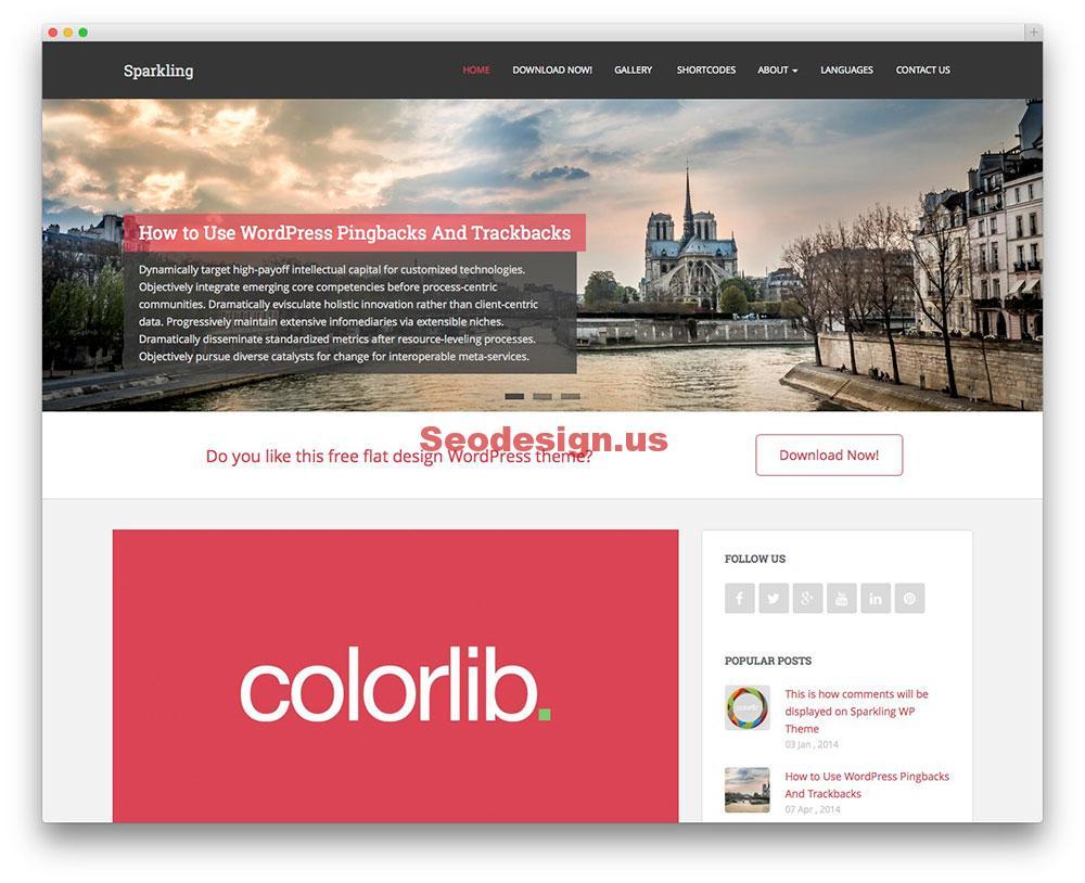 Sparkling - Free WordPress theme