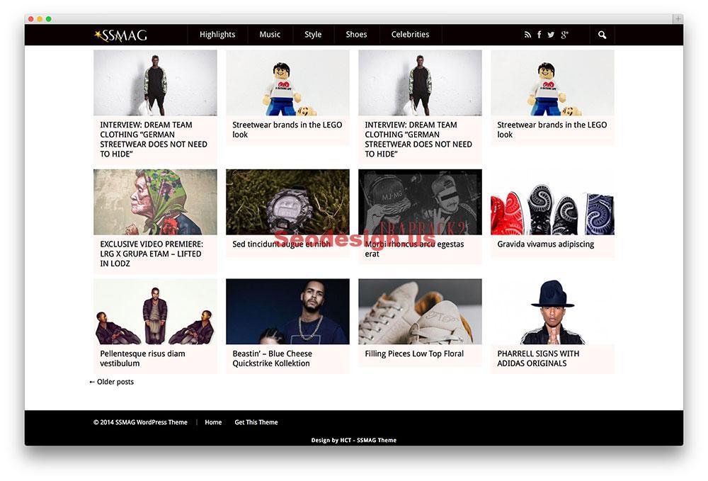 ssmag portfolio theme