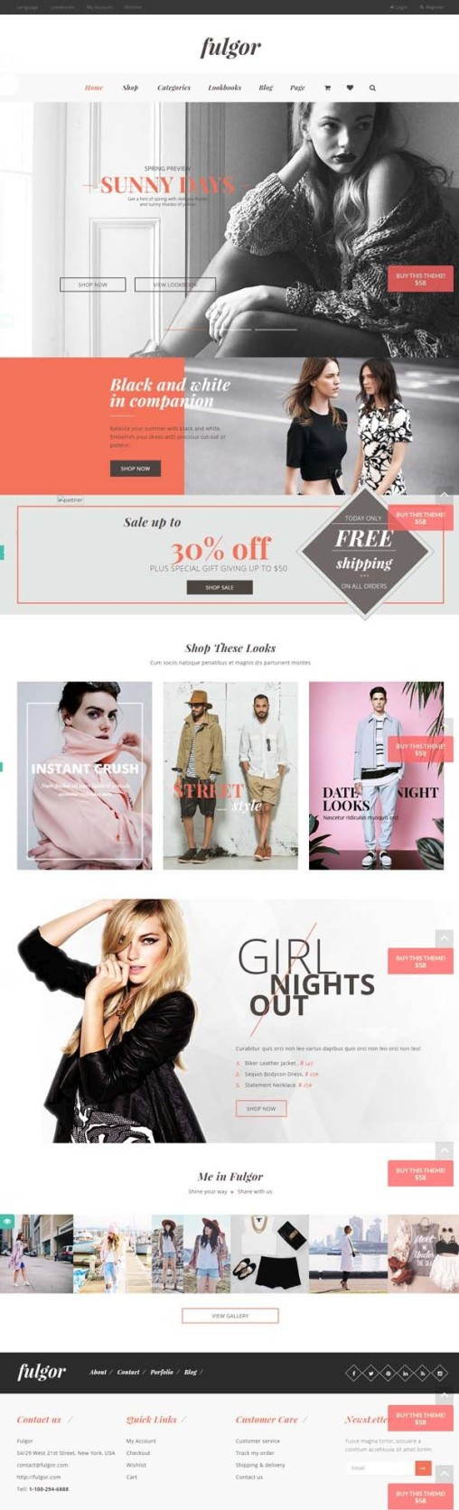Ecommerce Fashion WordPress Theme