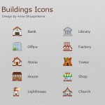 10 Colorful Useful Buildings Icons