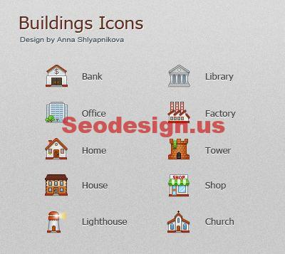 Colorful Useful Buildings Free Download