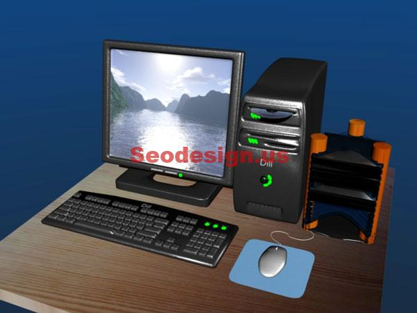 Cute 3D Desktop Computer Models