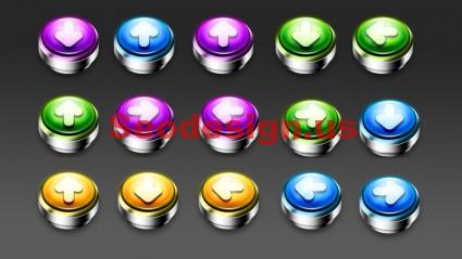 Glossy Push Icons Download