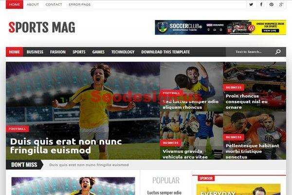 Responsive Sport Magazine Blogger Theme