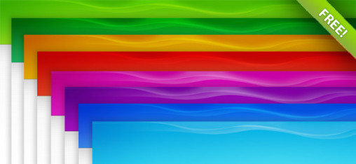 20 Tillable Colorful Header Backgrounds