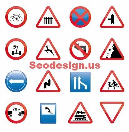 Free Vector School Drive Signs