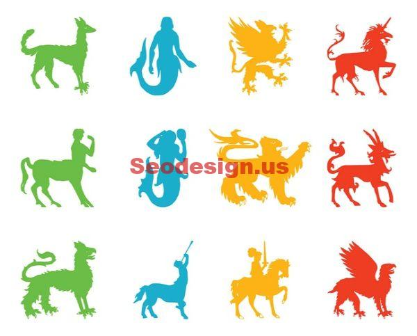 Fantasy Heraldry Vector Footage Graphics