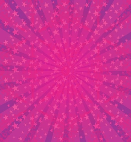 Sun Burst Pink Stars Free Vector Download