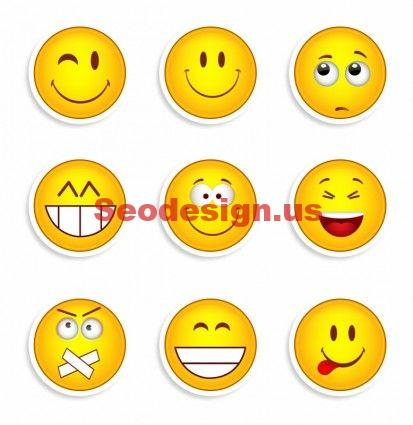 9 Vector Smileys Icon Set Free Download