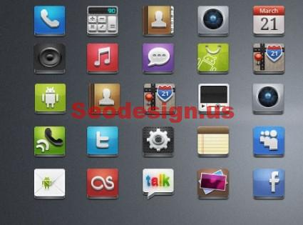25 Android Appz Icons Free Download