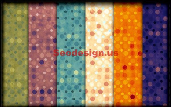 Free Colorful Dots Photoshop Patterns