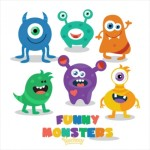 Cute Colored Free Monsters Graphics