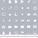 60 Glossy Gray Glyph Icon Set