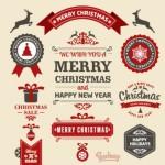 15+ Free Retro Christmas Vector Stickers