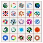 30 Colorful Shape Design Elements Graphics