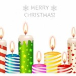Colored Vector Christmas Candles