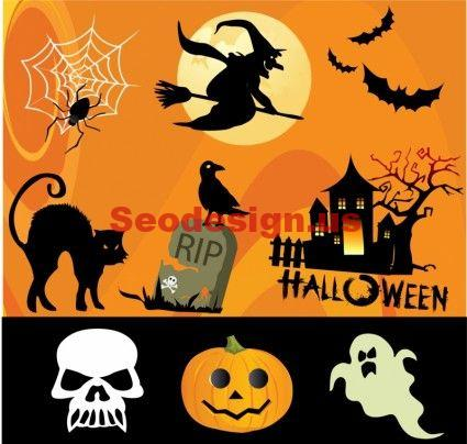 Free Halloween Vector Design Elements Graphics