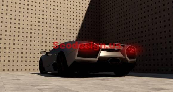 Cute Black 3D Lamborghini Reventon Model