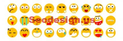 Free Flat Funny Smileys Icons