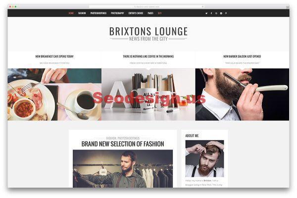 Brixton - WordPress Blog Theme