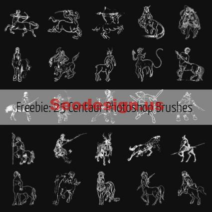 Free Centaur Photoshop Brushes