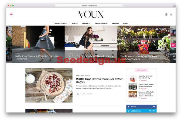 The Voux - A Magazine WordPress Theme