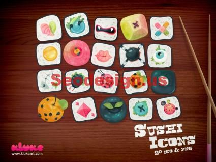 Free Sushi Icons Set Download