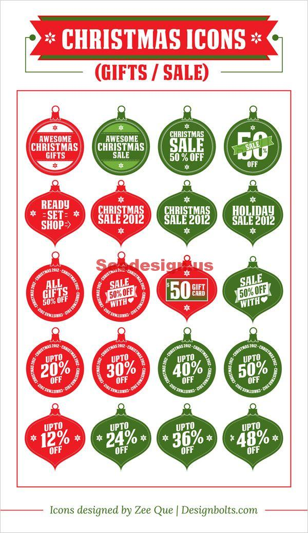 Free Christmas Sale Icons