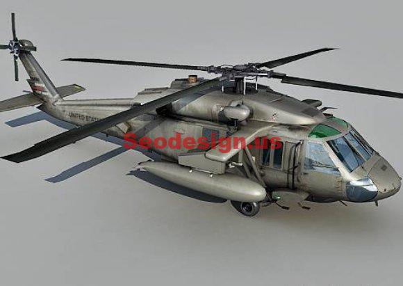 Free Blackhawk Helicopter 3D Model